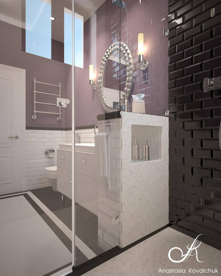 Villa:  Bathroom by Design studio by Anastasia Kovalchuk