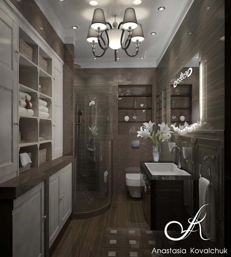 Townhouse in style of an art deco:  Bathroom by Design studio by Anastasia Kovalchuk