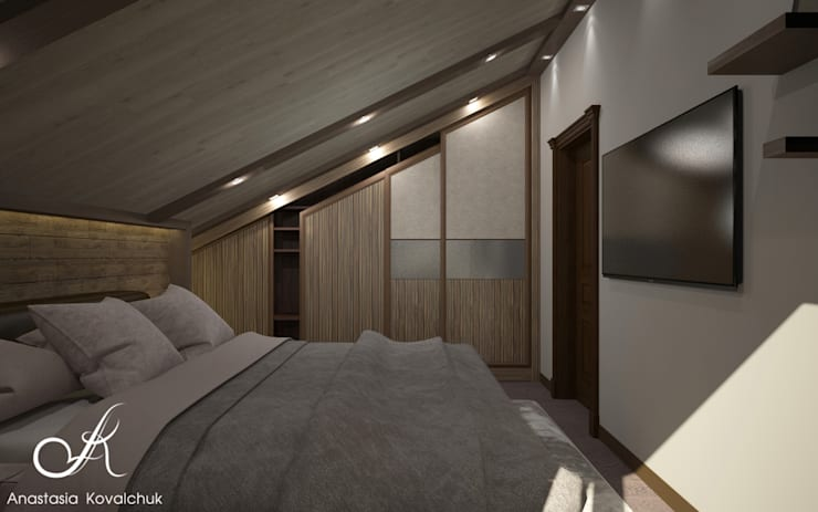 Townhouse in style of an art deco: classic Bedroom by Design studio by Anastasia Kovalchuk