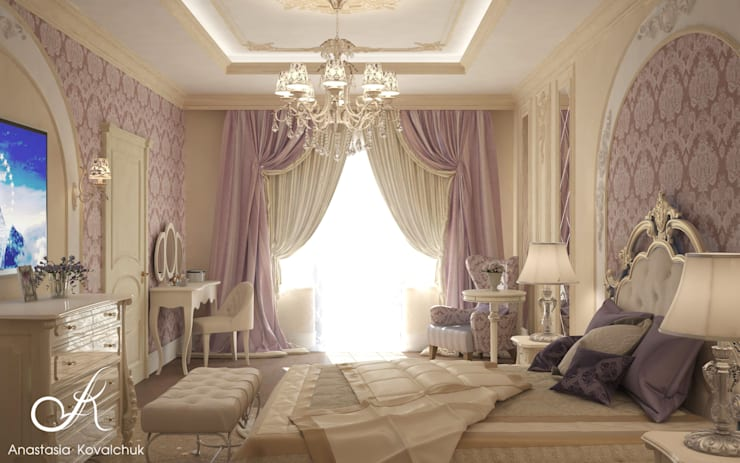 Bedroom by Design studio by Anastasia Kovalchuk