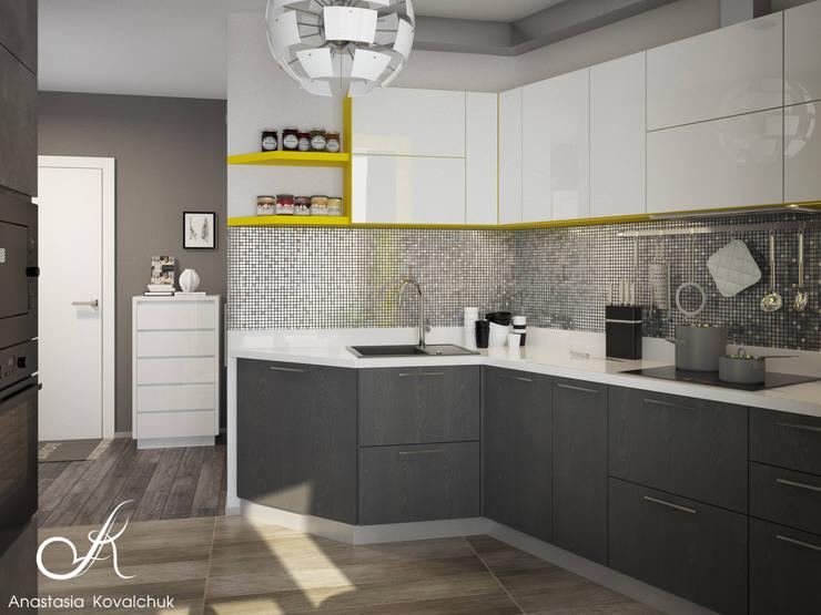 مطبخ تنفيذ Design studio by Anastasia Kovalchuk