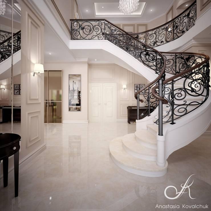 Villa with the pool:  Corridor & hallway by Design studio by Anastasia Kovalchuk