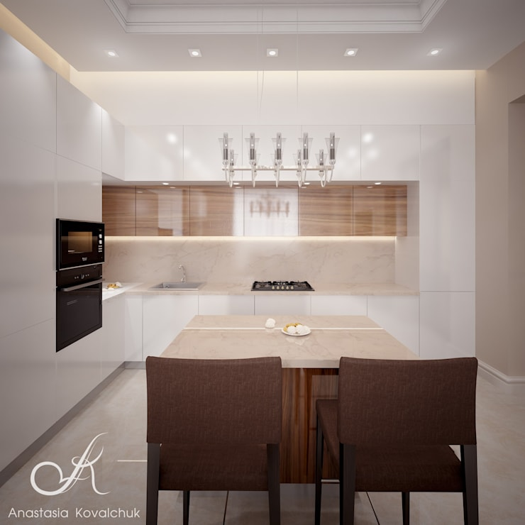 Villa with the pool:  Kitchen by Design studio by Anastasia Kovalchuk