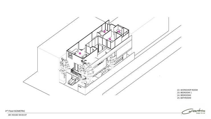 Ari House:   by Greenbox design co.,ltd.