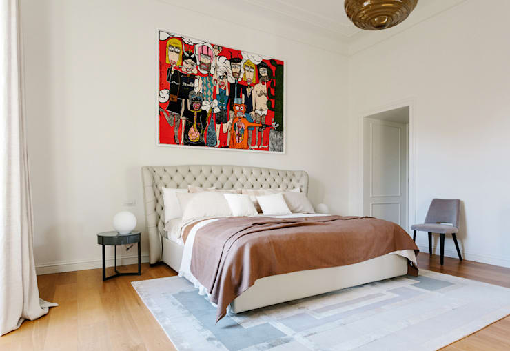 Projekty,  Sypialnia zaprojektowane przez NOMADE ARCHITETTURA E INTERIOR DESIGN