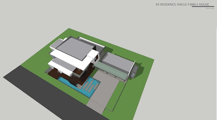 New family house design in progress @ Chiangmai – Doisaket:   by THESKULSTUDIO