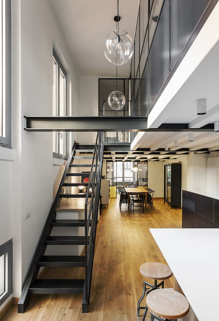 Livings industriales de NOMADE ARCHITETTURA E INTERIOR DESIGN Industrial