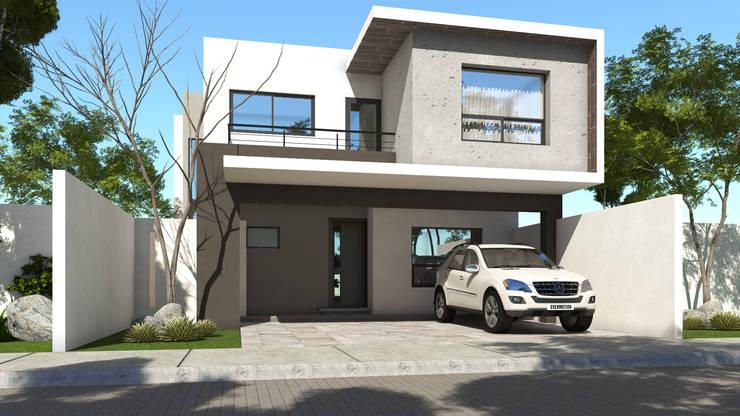 Fachadas: Casas de estilo  por GA-Arquitecto