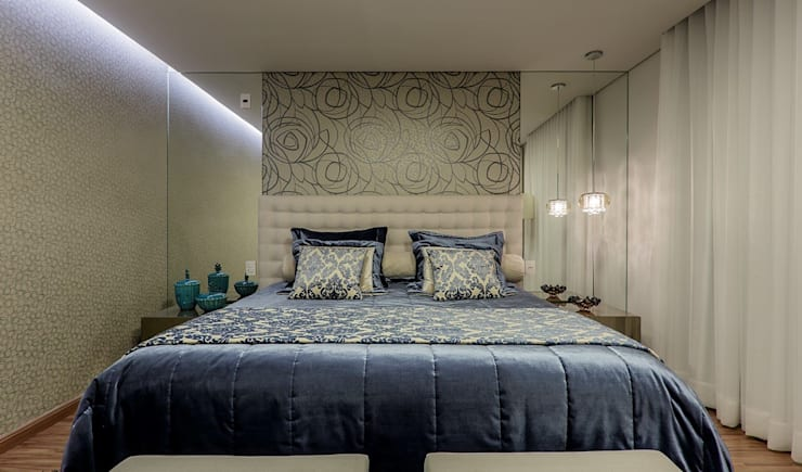 Bedroom by Aleggra Design & Arquitetura - Janaina Naves