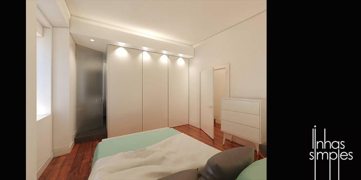 Quarto principal (suite) / Master bedroom (suite) : Quartos  por Linhas Simples