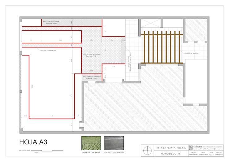 Anteproyecto Jardín Müller: Jardines de estilo  por Dhena CONSTRUCCION DE JARDINES