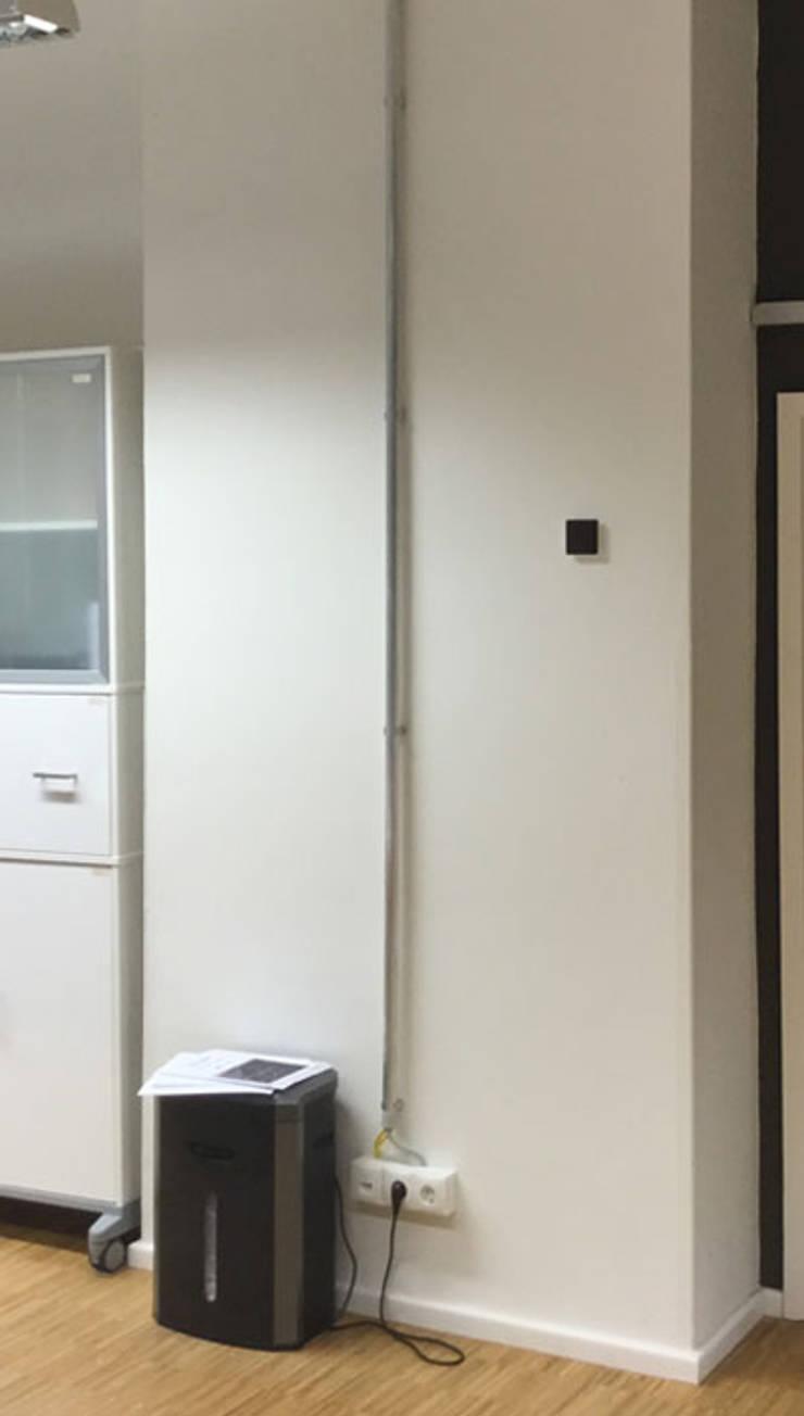 vorher: wandvorsprung in altbau-büro-loft mit hohen decken