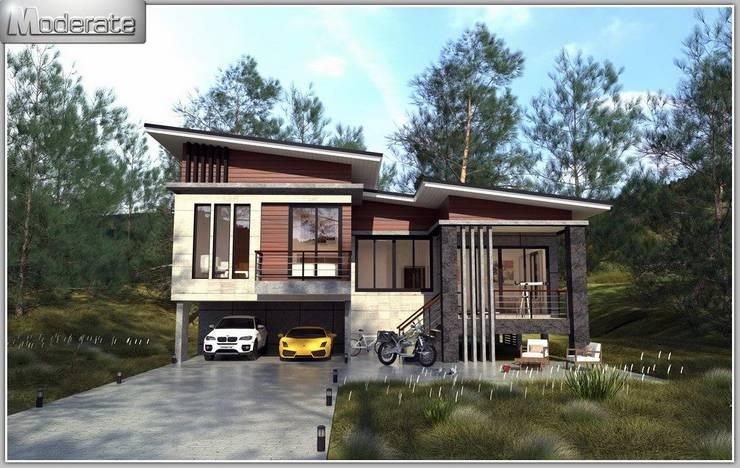 งานก่อสร้างบ้านพักอาศัยโมเดิร์น 4 ห้องนอน 3 ห้องน้ำ:   by หจก.ปัญญาพัฒน์