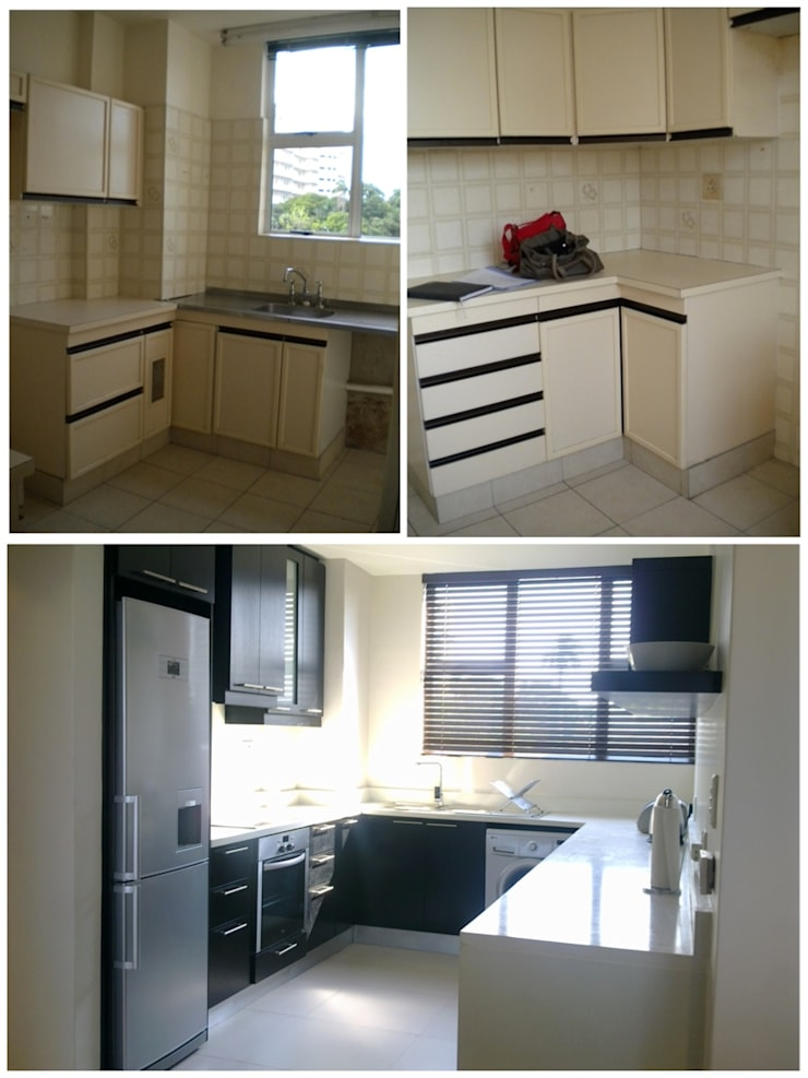 kitchen - before & after:   by Kirsty Badenhorst Interiors