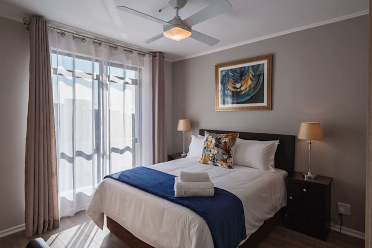 Holiday Let apartments: modern Bedroom by Nailed it Projects