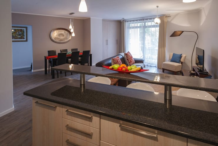 Holiday Let apartments: modern Kitchen by Nailed it Projects