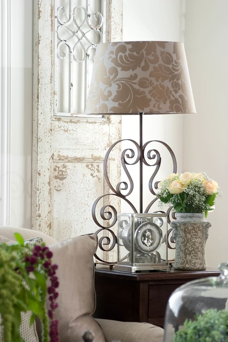 Lamp details:  Living room by Peter Thomas Interiors