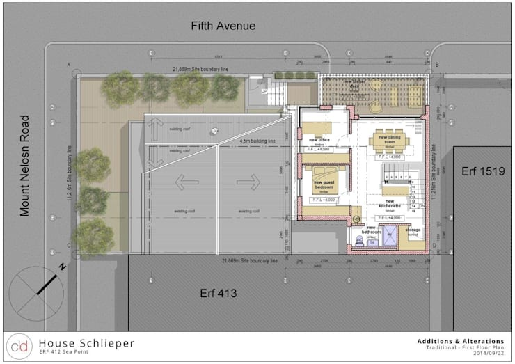 First Floor Plan Option 1:   by cld architects