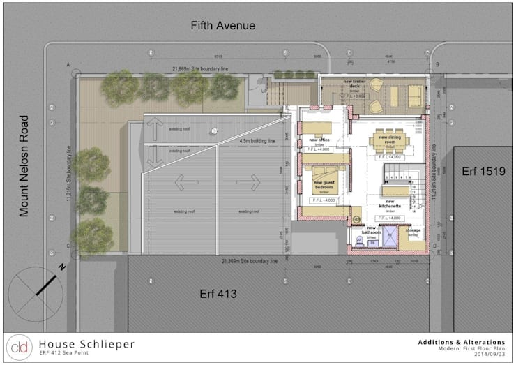 First Floor Plan Option 2:   by cld architects