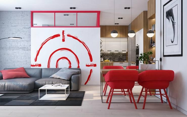 Target-52: Гостиная в . Автор – ZIKZAK architects