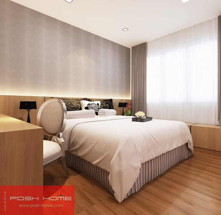 Bedroom - Tempanise Central:  Bedroom by Posh Home,