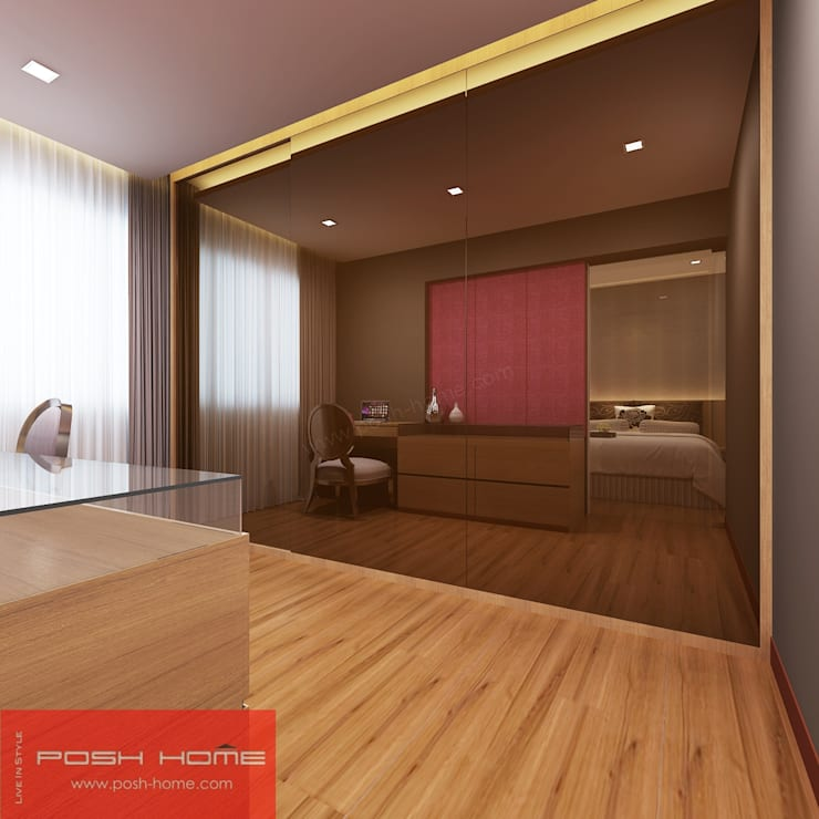 Master Bedroom - Tempanise Central:  Bedroom by Posh Home,