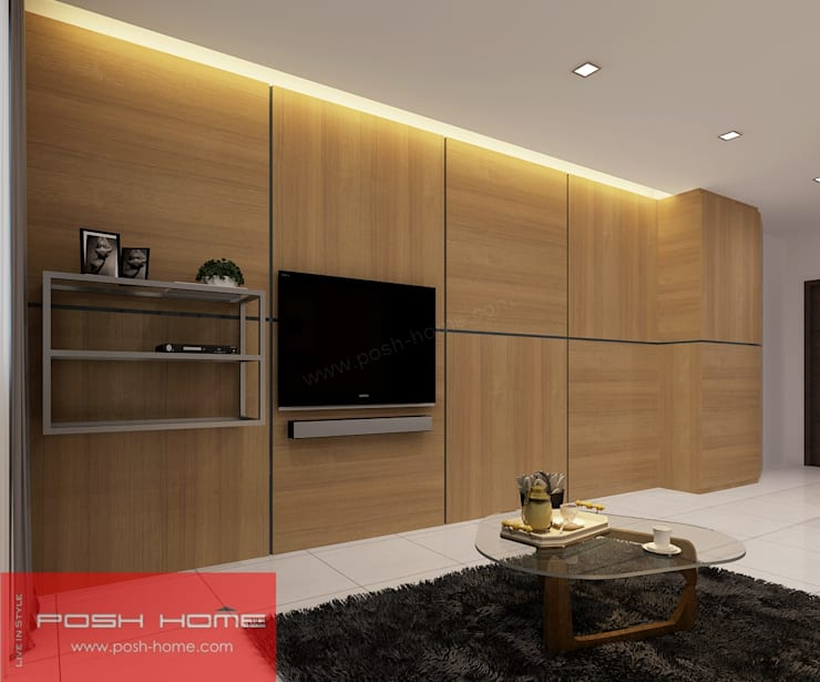 Living Room- Tempanise Central:  Living room by Posh Home,
