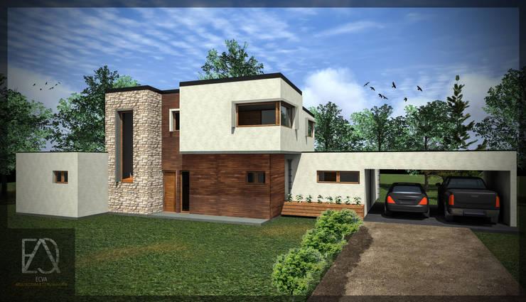 Casa 188: Casas de estilo  por ECVA Arquitectura