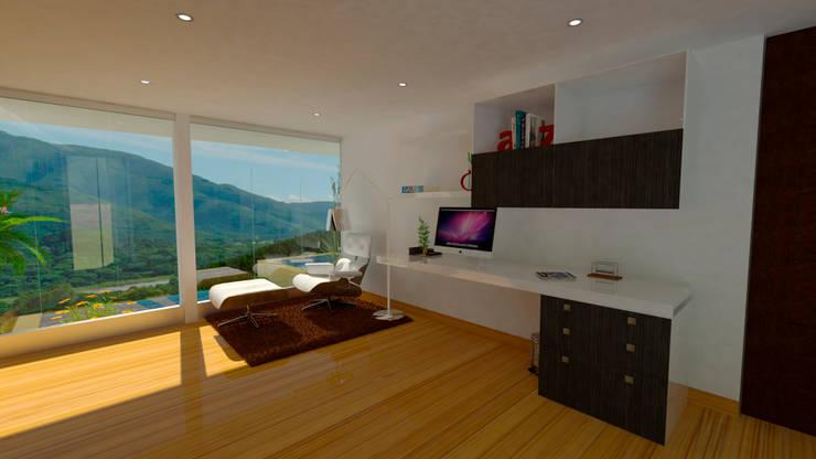 Interior Biblioteca: Estudios y despachos de estilo  por Studio 21.11