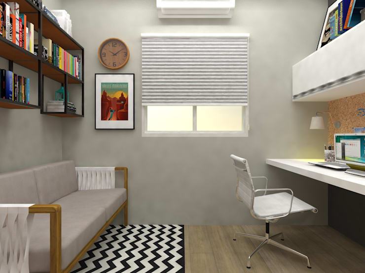 Study/office by Atelie 3 Arquitetura,