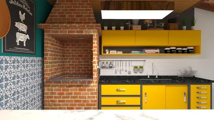 مطبخ تنفيذ Atelie 3 Arquitetura