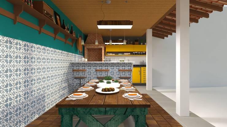 Cocinas de estilo rural de Atelie 3 Arquitetura Rural