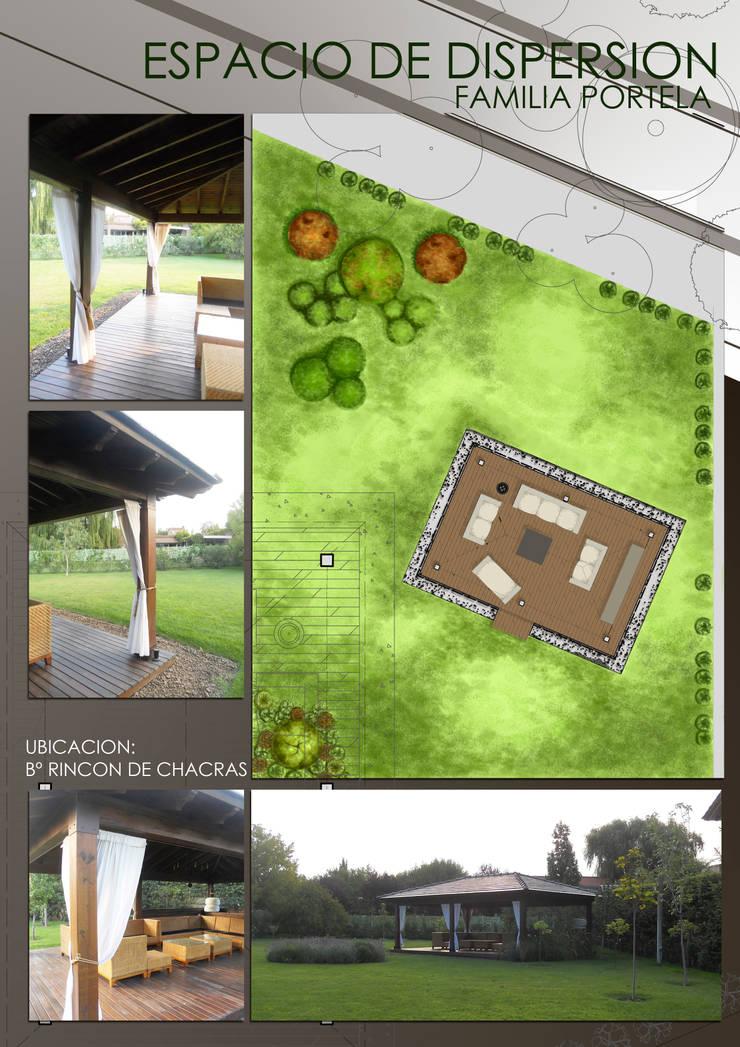 Lamina de proyecto: Jardines de estilo  por Hornero Arquitectura y Diseño,