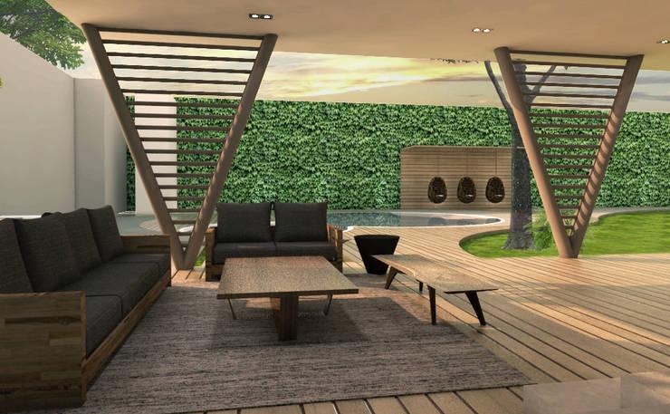 Jardines de estilo  por Interiorista Teresa Avila