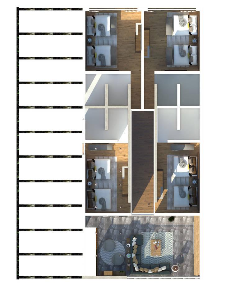 Pasillos y recibidores de estilo  por Interiorista Teresa Avila
