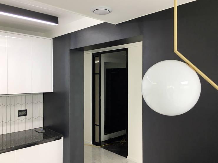 자양 한화꿈에그린  / 33평형 아파트 인테리어 : 오락디자인의  주방,