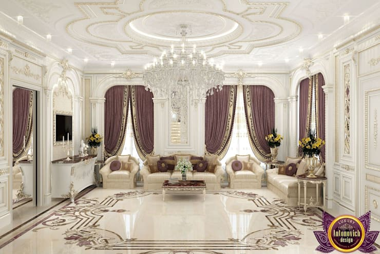 ​Most beautiful house Interiors from Katrina Antonovich:  Living room by Luxury Antonovich Design, Classic