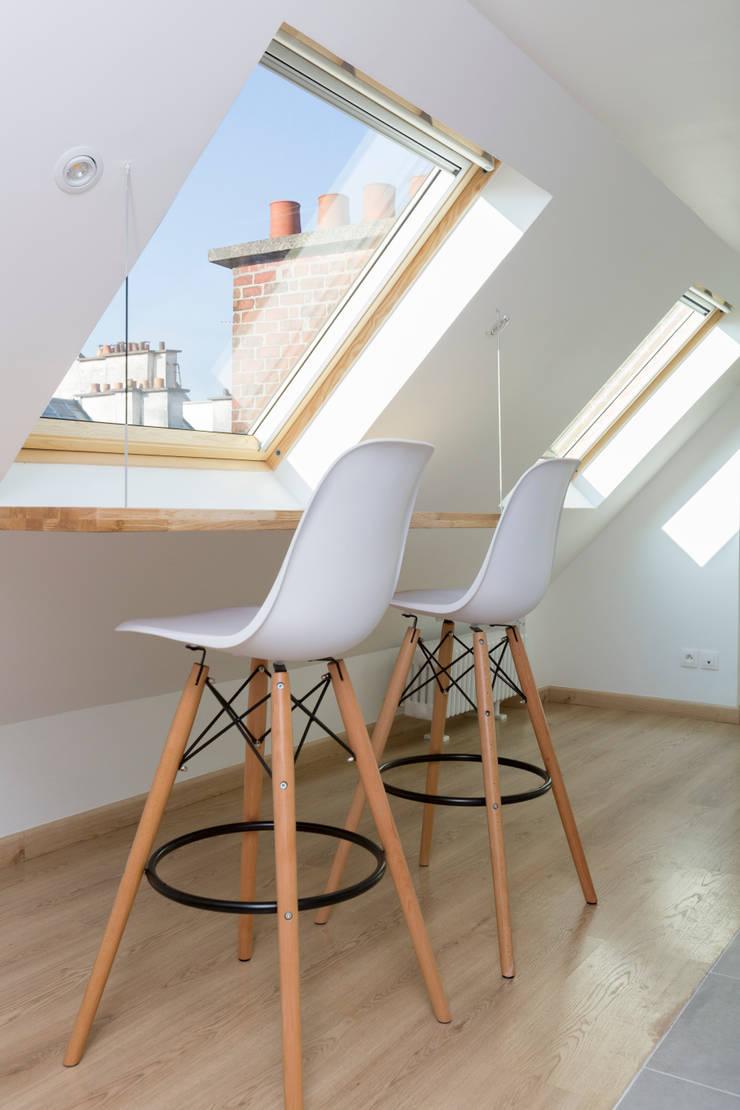 rénovation d'un appartement sous les combles par mon concept
