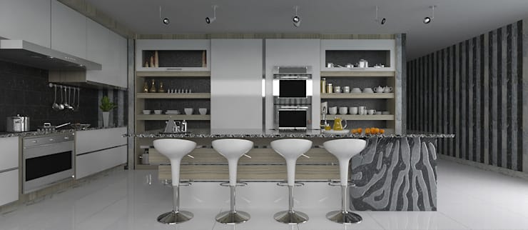 Social Kitchen :  Dining room by Linken Designs
