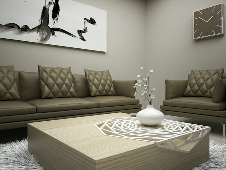 Luxury Living Room:  Living room by Linken Designs ,