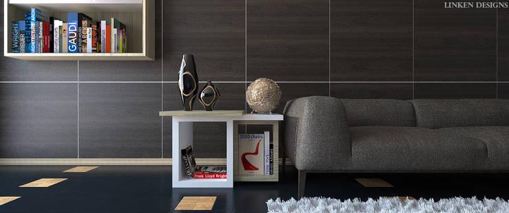 Eclectic Living Room:  Living room by Linken Designs ,