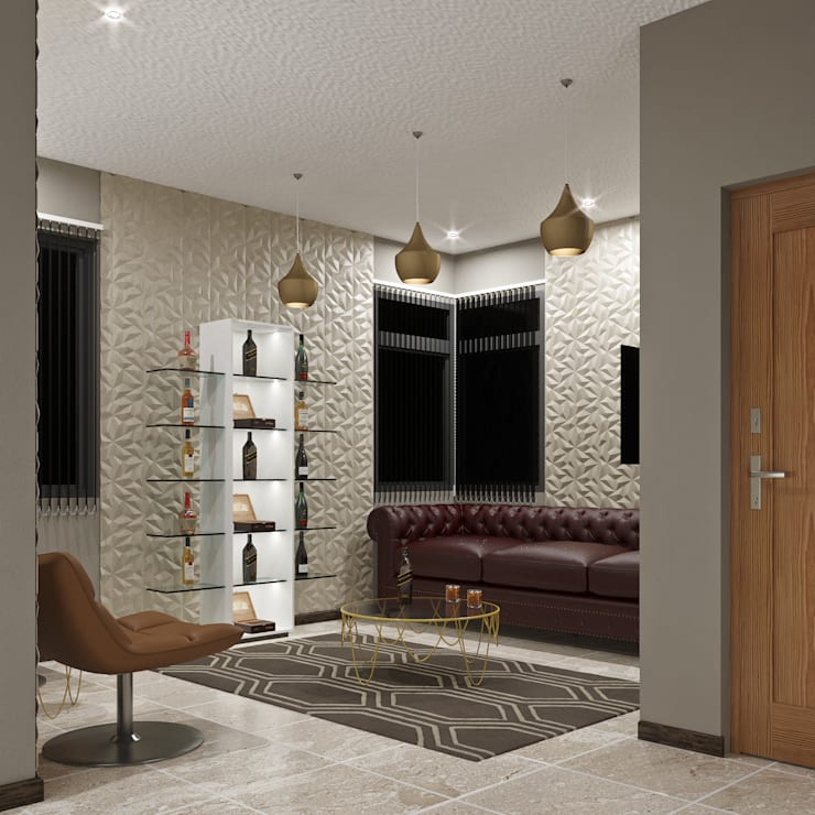 Modern Living Room:  Living room by Linken Designs ,