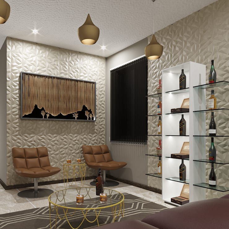 Modern Living Room:  Living room by Linken Designs