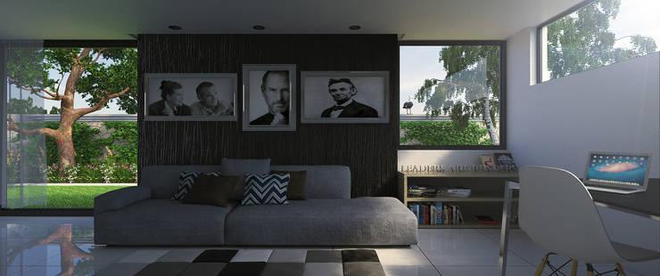 Artistic Living Room:  Living room by Linken Designs ,