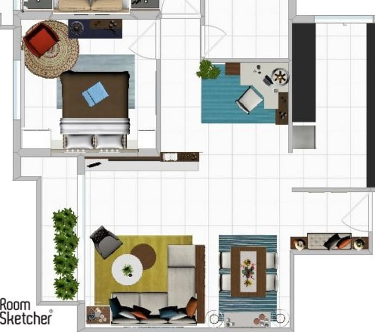 Space Planning-1:   by Srijanaa,