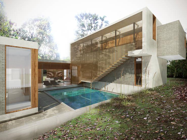 Casa Caracolí: Casas de estilo  por Contrafuerte
