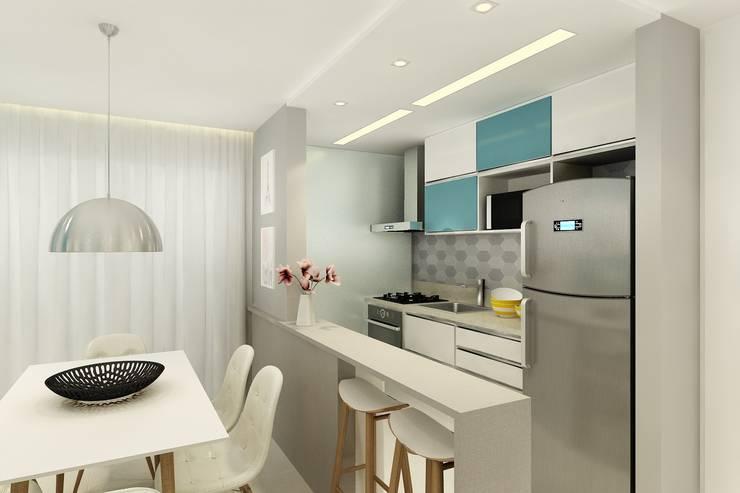 Cozinha: Cozinhas  por Juliana Zanetti Arquitetura e Interiores