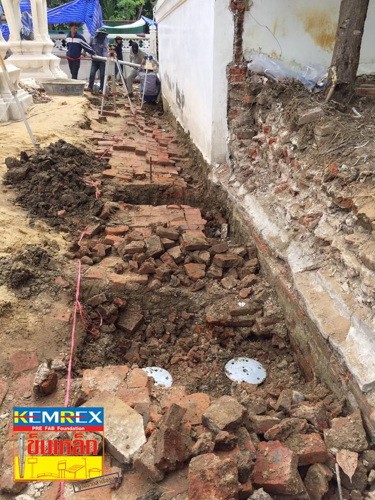 งานฐานรากกำแพงวัดใหม่ทองเสน (โบราณสถาน):   by บริษัทเข็มเหล็ก จำกัด