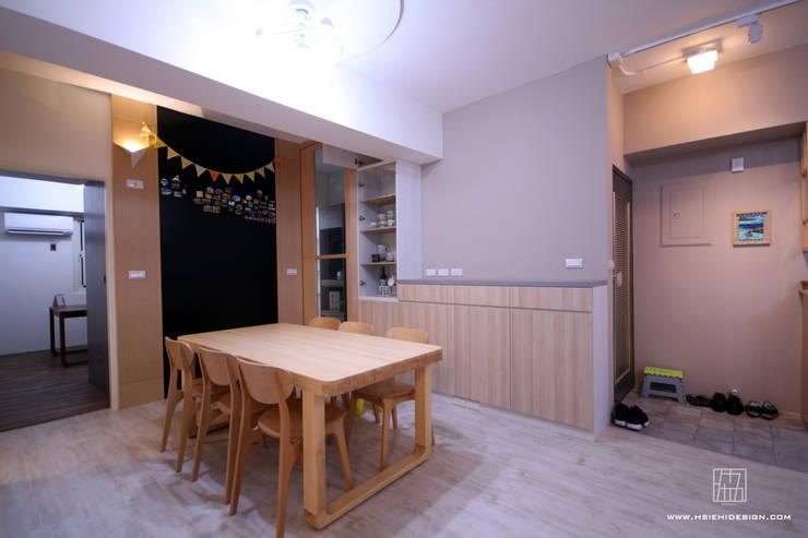 高雄新興 謝公館:  餐廳 by 協億室內設計有限公司