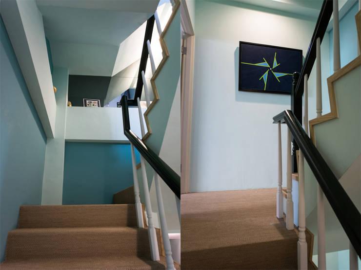 樓梯間:  樓梯 by 果仁室內裝修設計有限公司